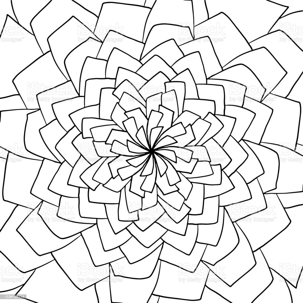 Geometric Abstract Coloring Book Page Hand Drawn Doodle Mandala Circle Line  Shape Dynamic Contour Repeating Elements Beautiful Pattern Relaxation Black  White Ornament Vector Meditation Drawing Stock Illustration - Download  Image Now - IStock