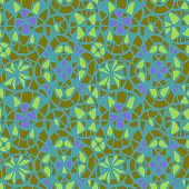 Geometric abstract lace Kaleidoscope grid texture. stained glass window seamless pattern
