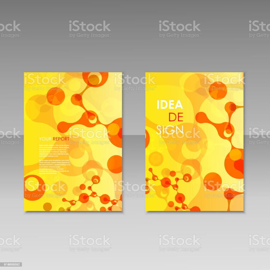 geometric abstract modern colorful brochure templates design elements molecule background royalty free geometric