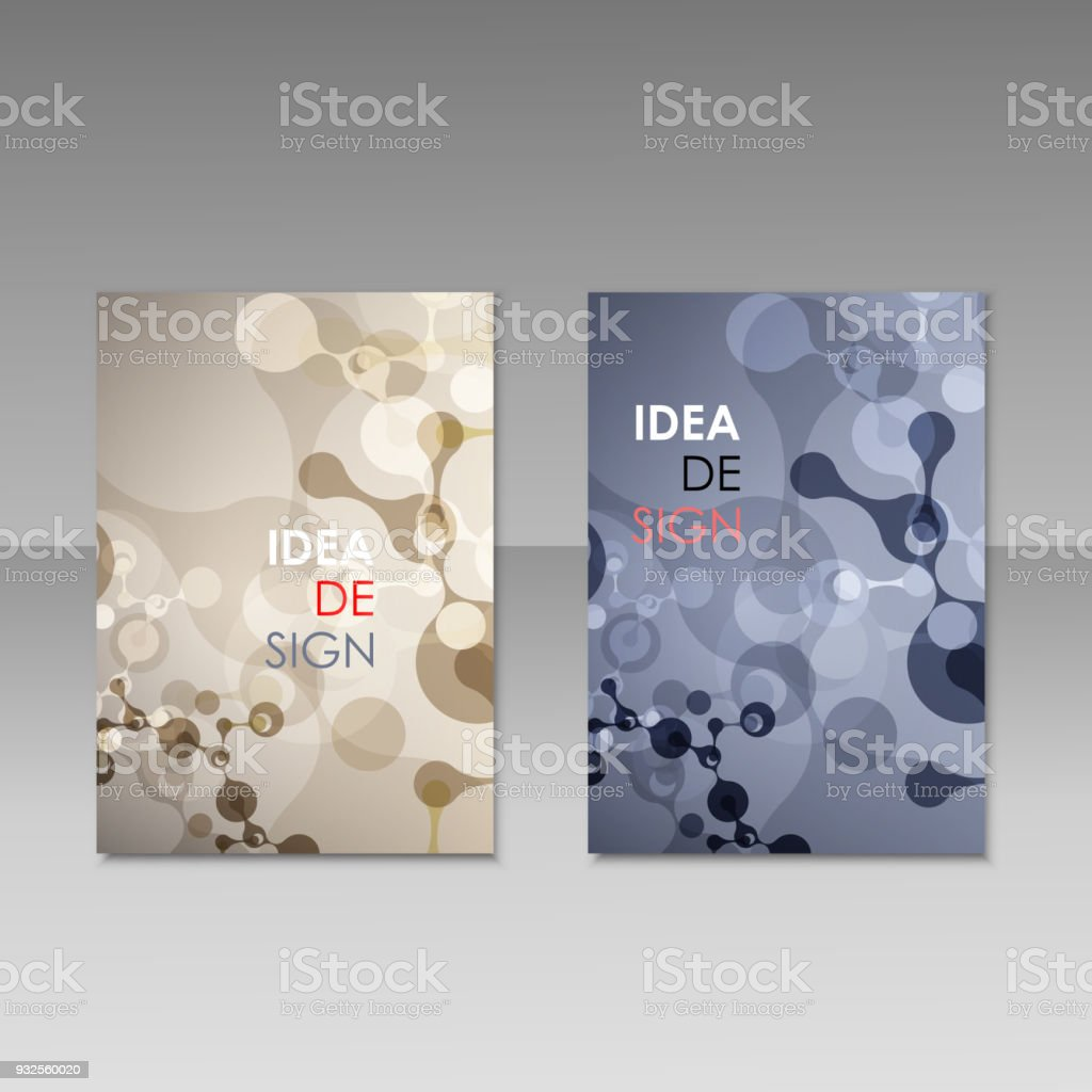 geometric abstract modern colorful brochure templates design elements molecule background royalty free geometric - Colorful Brochure Templates