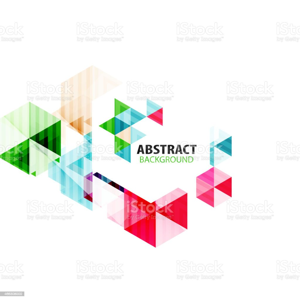 Geometric abstract polygonal background vector art illustration