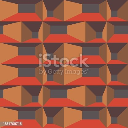 istock Geometric abstract seamless pattern - decorative accent for any surfaces. 1331709716