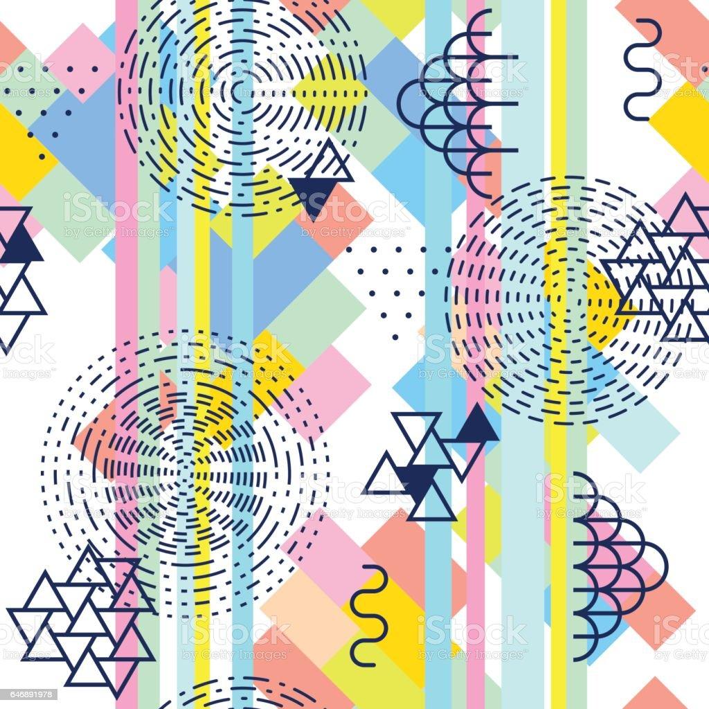 Geometric Abstract Seamless Pattern Simple Motif