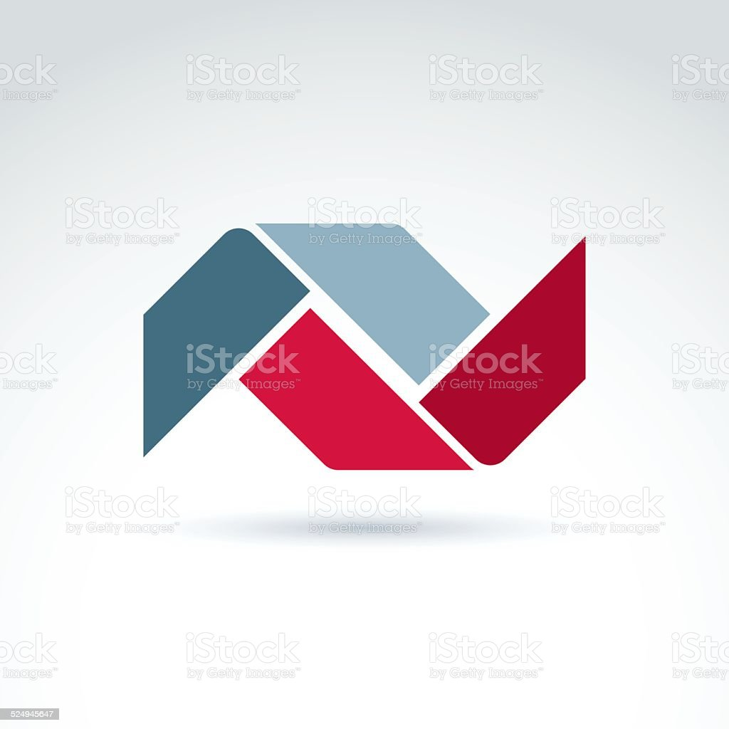 Geometric abstract symbol, vector graphic design element, icon. vector art illustration