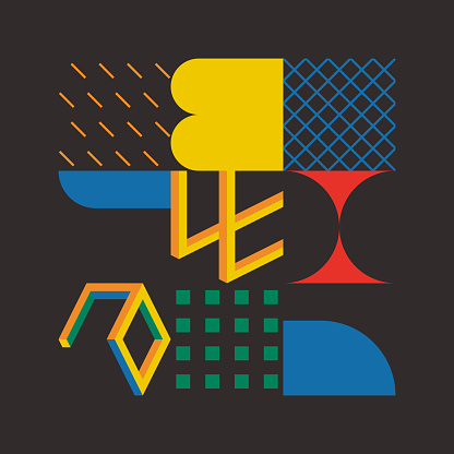 Geometric Abstract Vector Elements Design