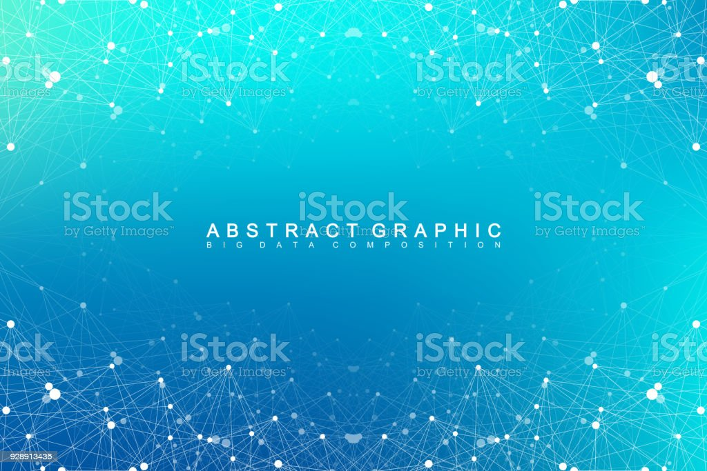 Geometric abstract vector with connected line and dots. Global network connection background. Technological sense abstract illustration vector art illustration
