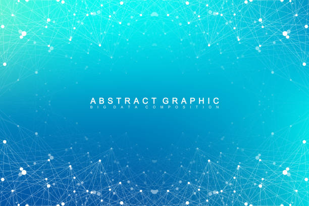 Geometric abstract vector with connected line and dots. Global network connection background. Technological sense abstract illustration Geometric abstract vector with connected line and dots. Global network connection background. Technological sense abstract illustration exchange rate stock illustrations