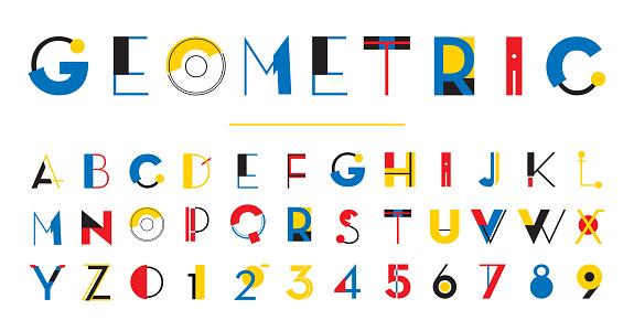 Set of 36 Letters - 4 color