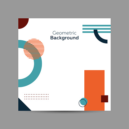 Geometric art cover template. Poster, flyer, web banner and colorful.