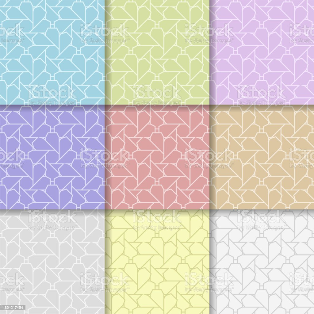 Geometric background. Abstract seamless wallpaper. Multi colored set royalty-free geometric background abstract seamless wallpaper multi colored set stock vector art & more images of art product