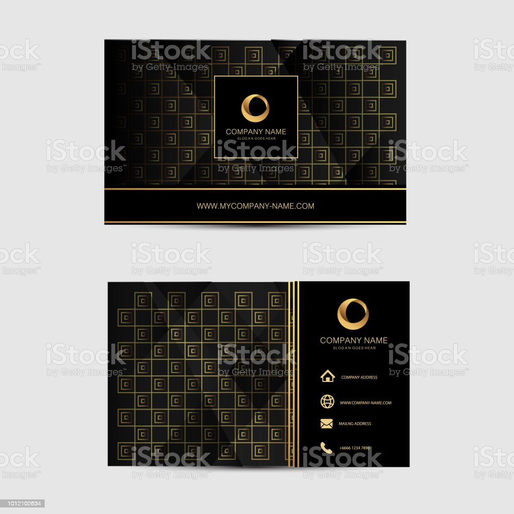 geometric background business card template flat design 7 stock