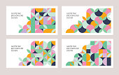 Modern geometric abstract templates for multiple purposes. Fully editable vectors.