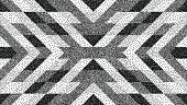 Geometric background. Grainy dotwork design. Pointillism pattern. Stippled vector illustration.