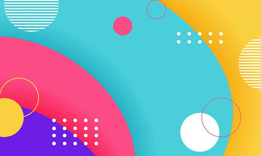 Geometric background. halftone geometric shapes Modern vector illustration