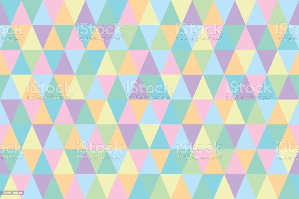 Fondo Geométrico De Triángulos De Colores Pastel