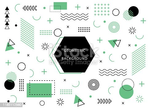 geometric background with abstract element shapes. Graphic minimal texture for holiday poster, card, social media. Abstract pattern with circle, halftone dots. Geometry flat banner. vector