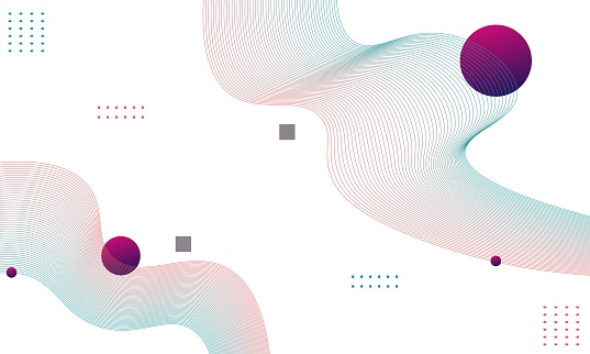 Geometric background with abstract shapes