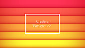 Geometric background with colorful horizontal stripes. Creative background for landing page, banner and cover, poster and presentation. Modern template for graphic design. Vector Eps10