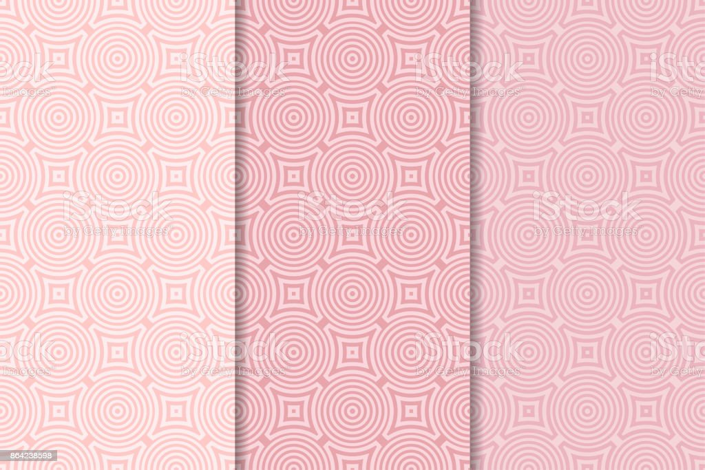 Geometric backgrounds. Pale pink vertical seamless wallpapers. Colored set royalty-free geometric backgrounds pale pink vertical seamless wallpapers colored set stock vector art & more images of backgrounds