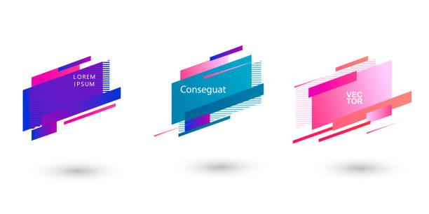 Geometric badges set. Trendy minimal design. Eps10 vector. Geometric badges set. Trendy minimal design. Eps10 vector. blue drawings stock illustrations