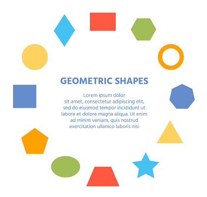 Geometric basic shape element figure circle banner