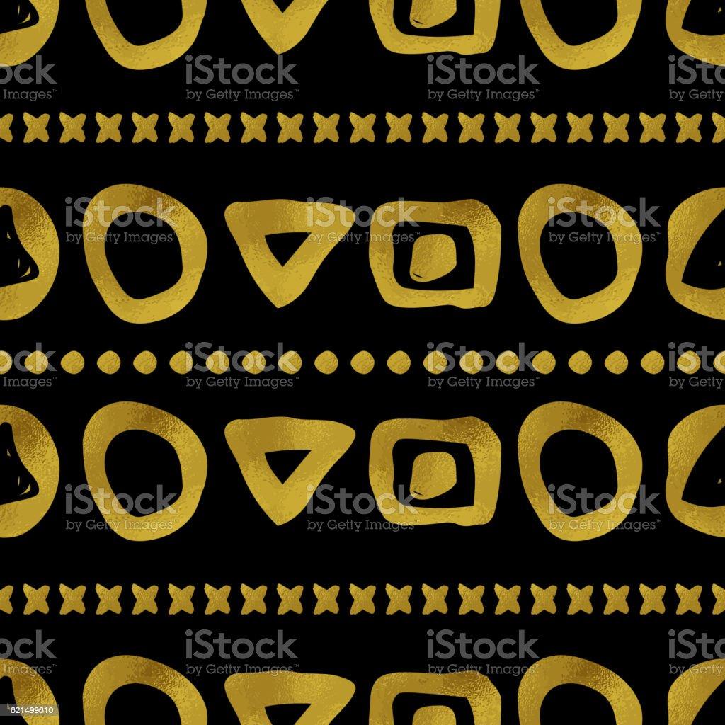 Geometric black and gold seamless pattern Lizenzfreies geometric black and gold seamless pattern stock vektor art und mehr bilder von abstrakt