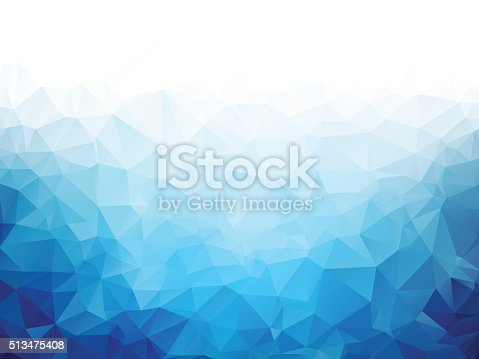 Geometric blue ice texture background