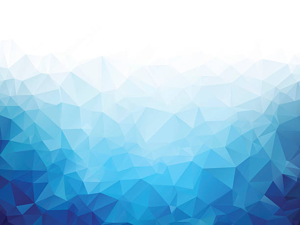 stockillustraties, clipart, cartoons en iconen met geometric blue ice texture background - mozaïek