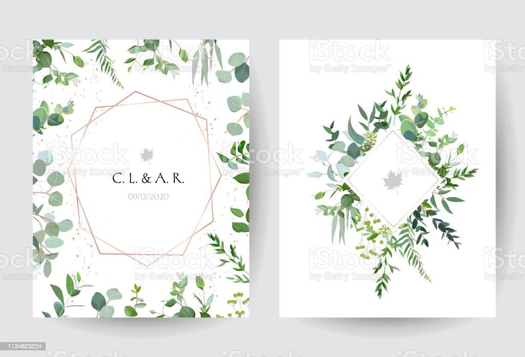 Geometric Botanical Vector Design Frames On White Background Stock Illustration Download Image Now Istock