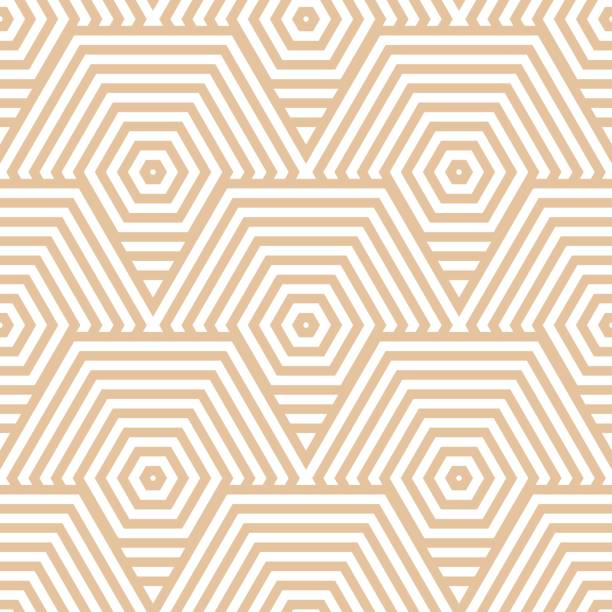 Bекторная иллюстрация Geometric brown and white seamless pattern for fabrics