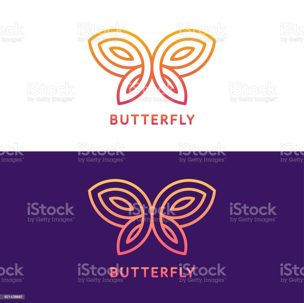 Geometric butterfly sign vector art illustration