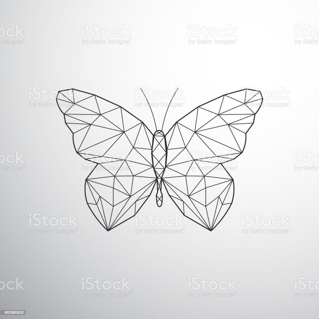 Geométrica borboleta - ilustração de arte em vetor