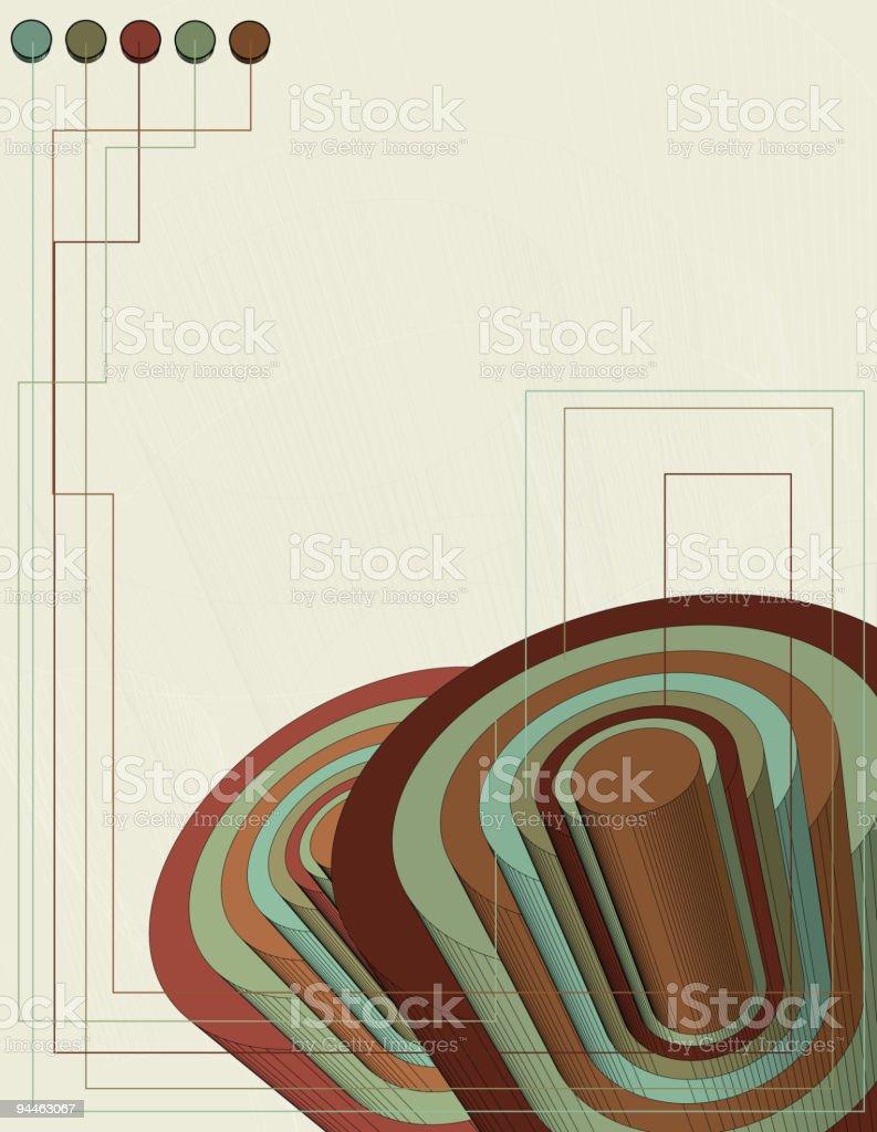 Geometric Circle Background royalty-free stock vector art