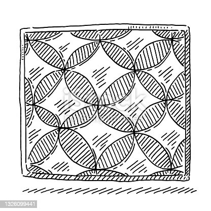 istock Geometric Circle Tile Pattern Drawing 1326099441