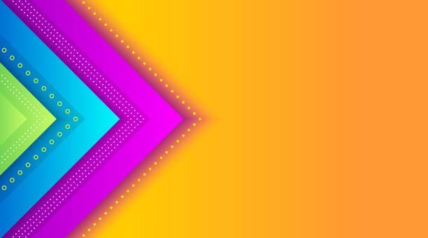 ilustraciones, imágenes clip art, dibujos animados e iconos de stock de plantilla de fondo de degradado colorido geométrico - fondos coloridos
