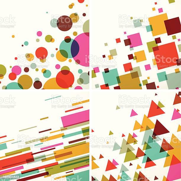 Geometric Colors Background Set Eps10 Stock Illustration - Download Image Now