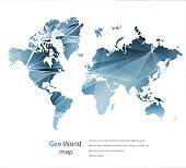 Geometric concept world map