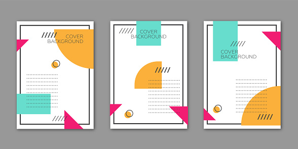 Geometric Cover Style Template