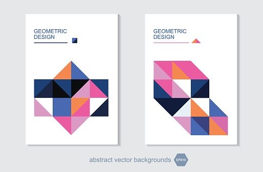 geometric crystal abstract vector backgrounds