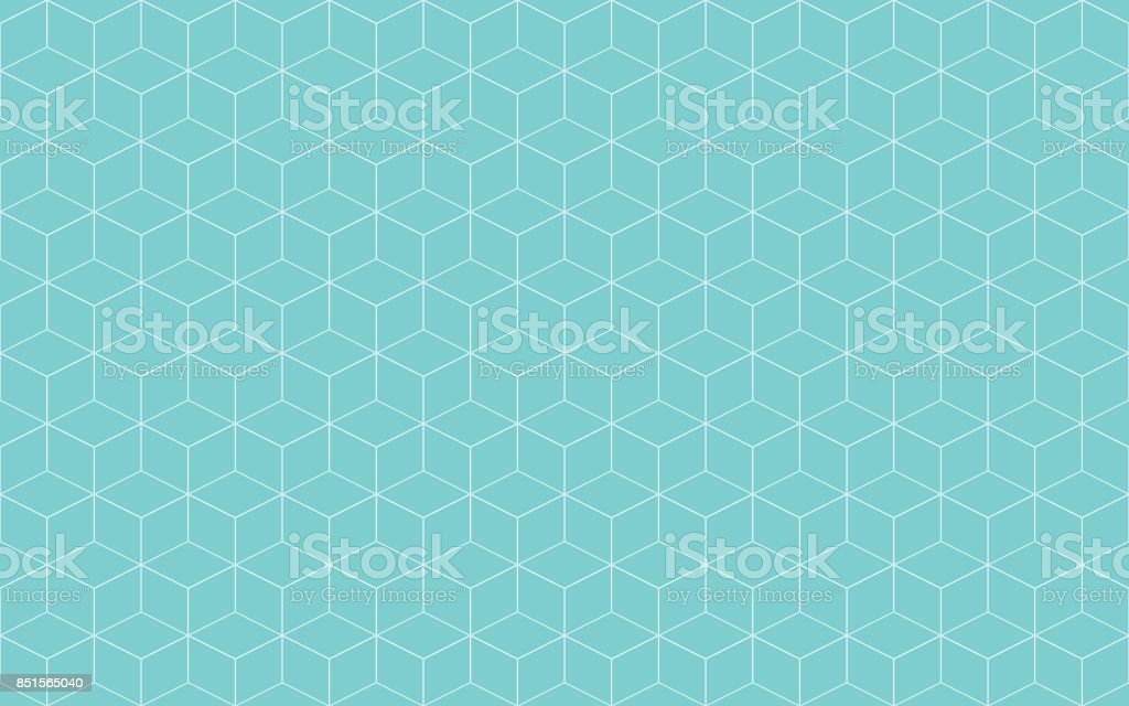 Geometric cube abstract background vector. Line seamless pattern cube shape. vector art illustration