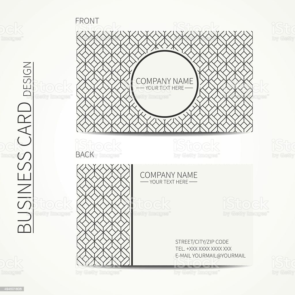 Geometric cube business card template optical illusion effect stock geometric cube business card template optical illusion effect royalty free geometric cube business accmission Images