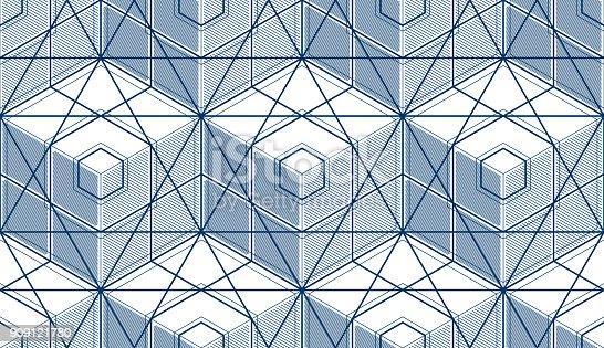 a6c33f51bcc 909121780istock Cubos geométricos abstractos de patrones sin fisuras, 3d  fondo de vector.