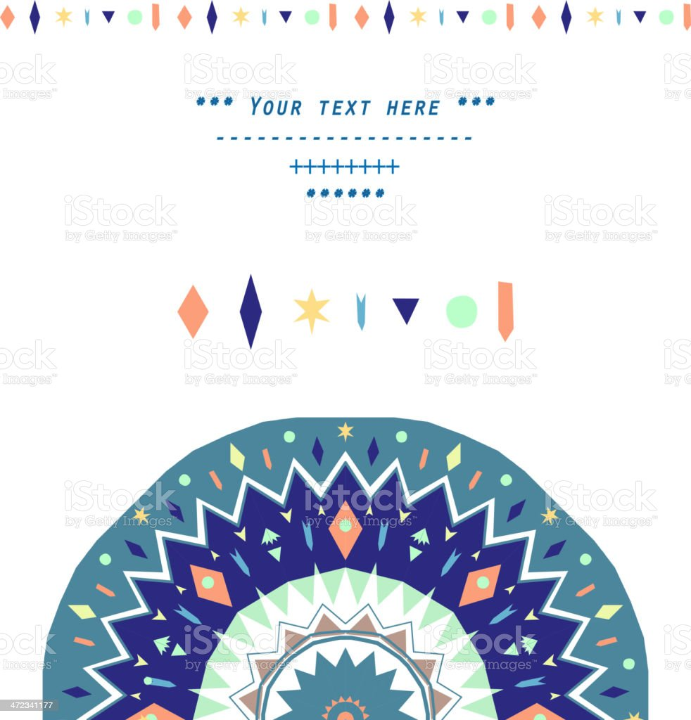 Geometric decoration royalty-free geometric decoration stock vector art & more images of appliqué