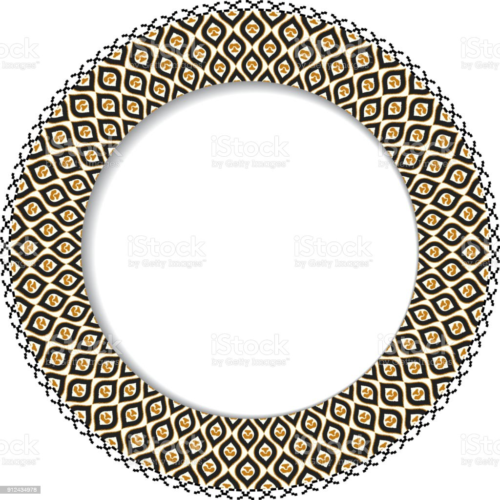 Geometric decorative round element with space for your text. Vector illustration vector art illustration