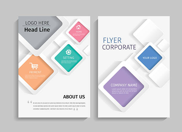 geometric design on background.brochure template layout. - dergi kapağı stock illustrations
