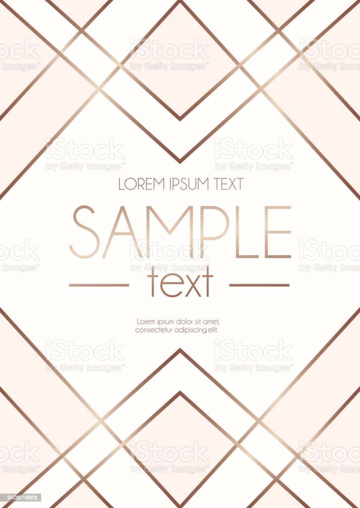 Geometric design template with rose gold lines and blush pink shapes geometric design template with rose gold lines and blush pink shapes modern design for wedding stopboris Choice Image