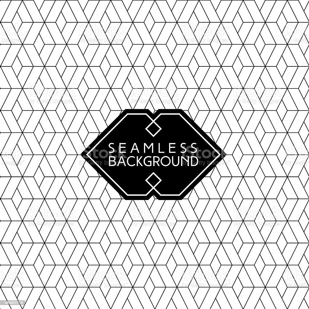 Geometric diamond patterned background vector art illustration