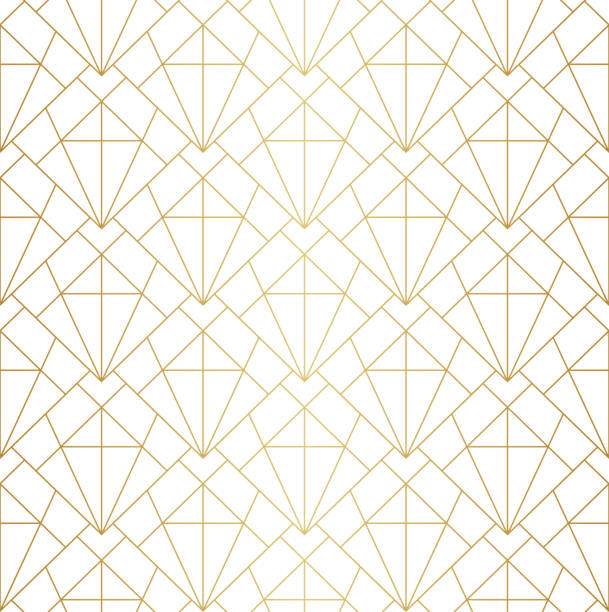 Geometric Diamond Vector Seamless Pattern. Abstract Art Deco Background. Classic Stylish Texture. Vector abstract arabesque seamless pattern. Geometric classic background. Vintage art deco texture. floral and decorative background stock illustrations