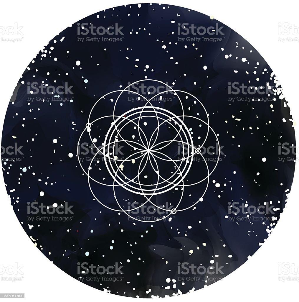 Geometric element. Sacred Geometry. Bright pattern. Vector vector art illustration