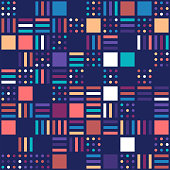 Geometric ethnic oriental pattern traditional design. Minimal and abstract background design with vibrant colors.